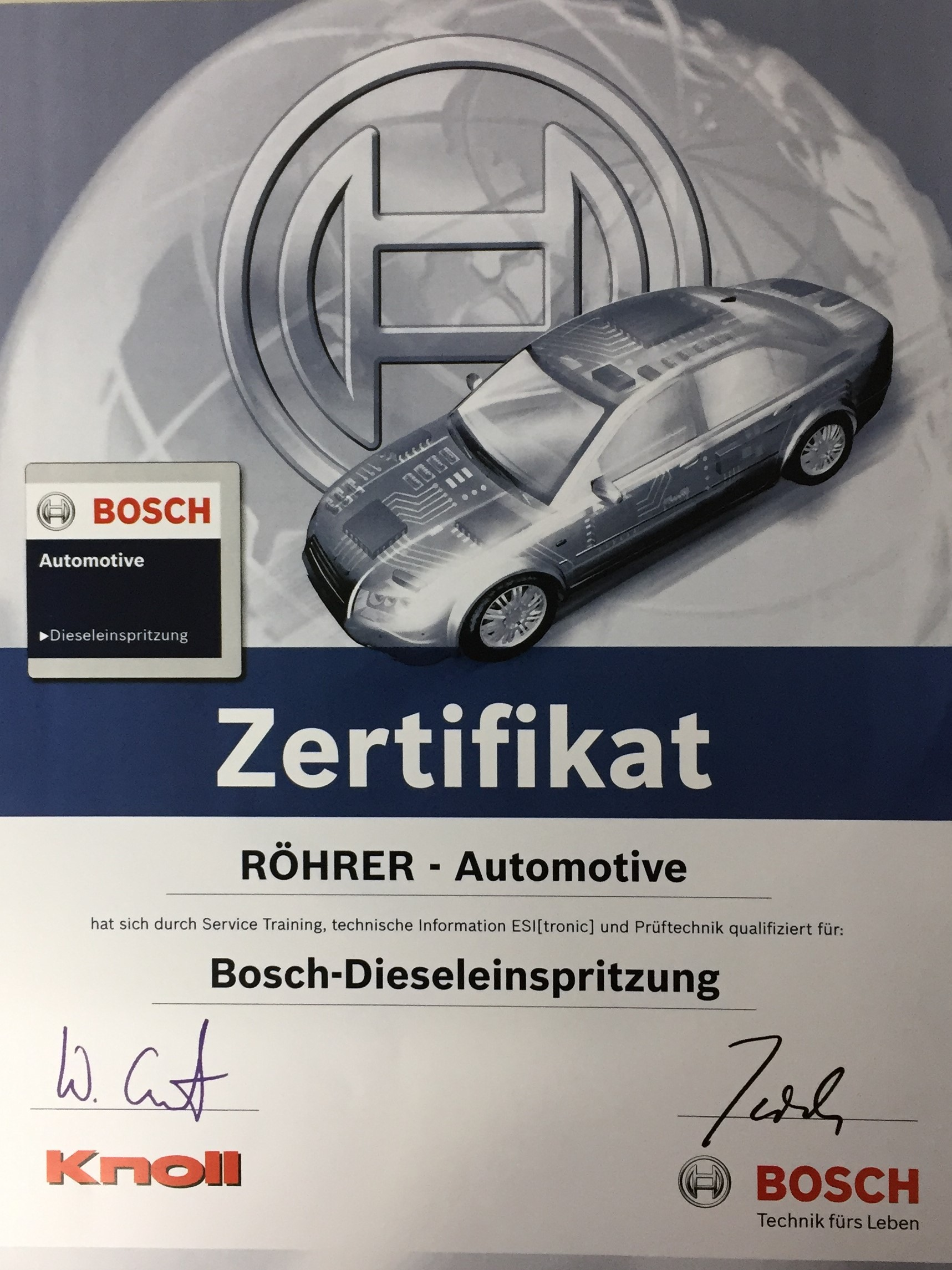 Röhrer Automotive Bosch Modulpartner